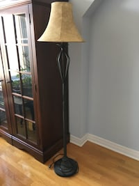 Standing lamp forged steel 5 ft tall