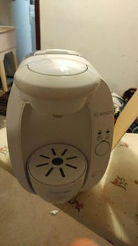 white Bosch Tcissimo coffee maker