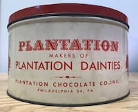 Vintage Plantation Dainties Advertising Tin Glen Arm