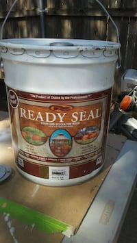 5 Gal stain new Trade for push mower 150 at lowes Lubbock, 79411