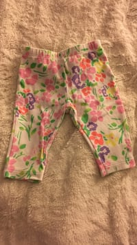 Baby white pants with floral pattern size 0-3 months Rock Hill, 29730