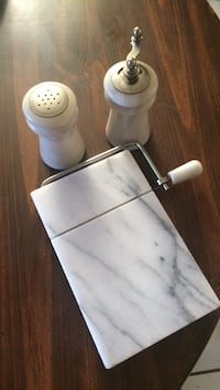 Real marble salt & pepper grinder & cheese cutter Rosedale, 21237