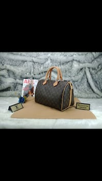 borsa in pelle Louis Vuitton Monogram marrone e nero Monteviale, 36050