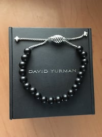 black and silver beaded necklace Vaughan, L6A