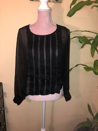 Rory Beca Long Sleeve Dressy Top - Size Small