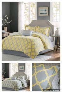 Twin Merritt Reversible Complete Bed and Sheet 7 S
