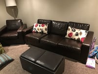 3 piece Real leather Natuzzi couches. Smoke free, pet free home. Priced to sell! Toronto, M6L 1R7