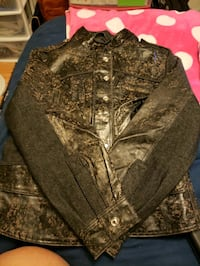black and gray button up jacket Cuba, 65453