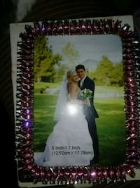 Pink and silver diamond photo frame brand new  Martinsburg