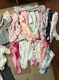 Baby Girl 3-6 months lot  50 pieces  Coquitlam