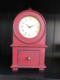 Red Wooden Clock