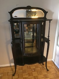 Ornate antique curio cabinet Toronto, M1W