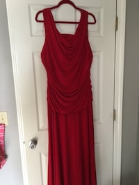 Women's red sleeveless dress size 18W Hamilton, 31811
