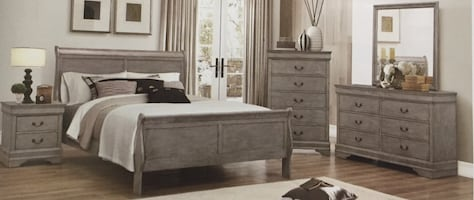 Gray bedroom set