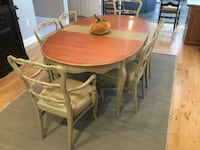 Custom painted dining table and 6 chairs Cookstown, 08511