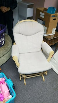 white padded glider chair with ottoman 728 km