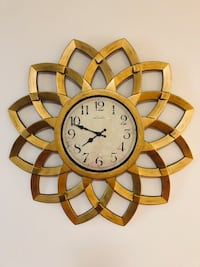 brown and white wooden analog wall clock Fort George G Meade, 20755