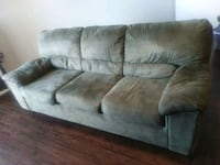 gray suede 3-seat sofa Reston