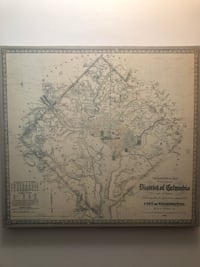 1862 DC topographic map and surrounding areas Alexandria, 22302
