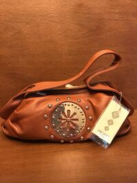 brown and white leather shoulder bag Purcellville, 20132