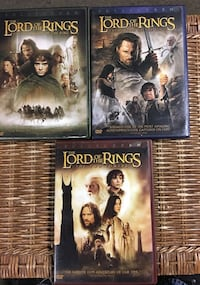 Three Lord of The Rings DVD's New York, 10312