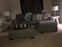 gray fabric 2-seat sofa Omaha, 68127