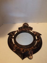 round black and brown wooden framed mirror Albany