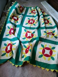 Red Green Yellow Wild Colors Quilt