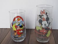 2 Mickey Mouse Collector Glasses