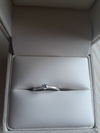 Hvit diamant ring 0.10 carat