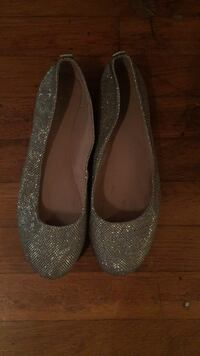 pair of gray glitter flat shoes Holland, 76534