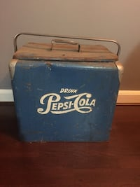 Very cool antique Pepsi cooler