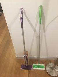 Swiffer wet jet and sweeper with swiffer wet jet pads Boston, 02215