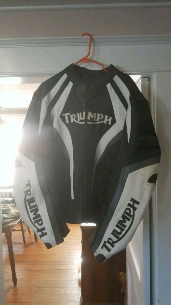 black and white Fox racing jacket