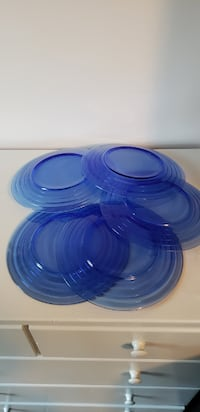 Blue glass plates Frederick