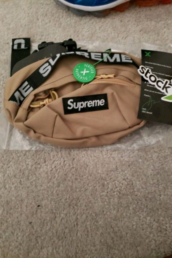 Used StockX Verified Supreme Khaki Waist Pack For Sale In Frisco