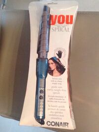Spiral curling wand