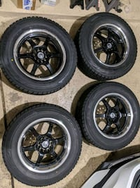 "Set of 17"" snow tires with rims"