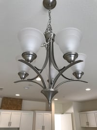 stainless steel framed uplight chandelier Scottsdale, 85255