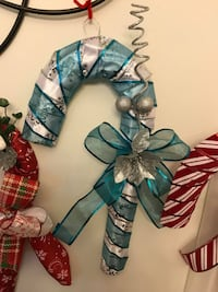 Christmas candy cane wreath 92 mi