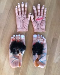 Halloween Large Monster Harry Feet and Hands Paramount, 21742