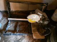 Wet Tile Saw with Stand and water tray