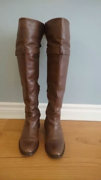 Brown leather knee-high boots Sz6 Toronto, M9B 6M1