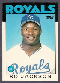 1986 Topps Traded Bo Jackson Rookie Card Midwest City, 73110