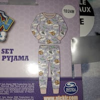 New 18-24m Paw Patrol fleece pajamas Vancouver, V5V