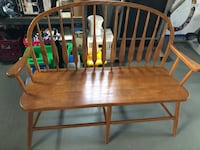 brown wooden windsor chair with table Brewster, 44613
