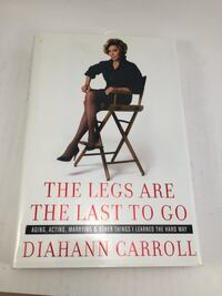 DIAHANN CARROLL 'LEGS ARE THE LAST TO GO' SIGNED BOOK Lake Elsinore, 92532