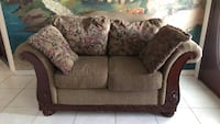 gray and white floral loveseat Davenport, 33837