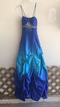 Blue spaghetti strap prom dress / formal dress Franklin, 37064