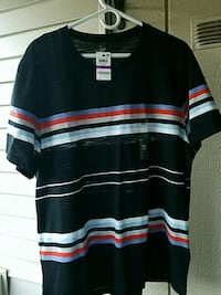 Brand new INC shirt, BLACK WITH STRIPES Rocky Hill, 06067